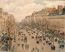 Camille Pissarro: Boulevard Montmartre, soleil après-midi