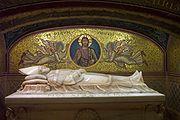 The stone sarcophagus of Pius XI