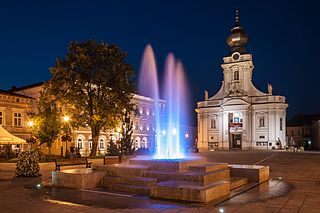 Wadowice Place in Lesser Poland, Poland