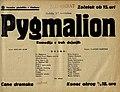 Plakat za predstavo Pygmalion v Narodnem gledališču v Mariboru 12. novembra 1939.jpg