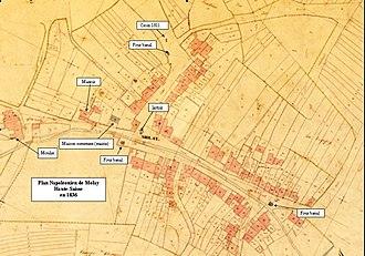Molay, Haute-Saône - Image: Plan de Molay Haute Saone 1836