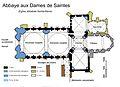 Plan de l'église Sainte-Marie de l'Abbaye aux Dames, Saintes.jpg