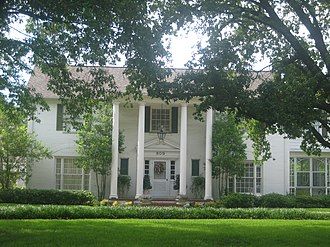 Madisonville, Texas - One of numerous historic plantation-style homes in Madisonville