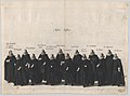 Plate 18- Aides marching in the funeral procession of Archduke Albert of Austria; from 'Pompa Funebris ... Alberti Pii' MET DP874766.jpg