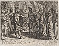 Plate 28- Cologne Troops Bring Civilis' Wife and Sister to Cerialis, from The War of the Romans Against the Batavians (Romanorvm et Batavorvm societas) MET DP863052.jpg