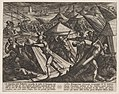 Plate 32- Dutch and Germans Atttack the Roman Camp and Capture Cerialis' Boat, from The War of the Romans Against the Batavians (Romanorvm et Batavorvm societas) MET DP862875.jpg