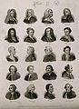 Poets; twenty portraits of writers. Engraving by J.W. Cook, Wellcome V0006824.jpg