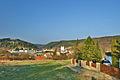 Pohled na obec od západu z modré turistické trasy, Sloup, okres Blansko.jpg