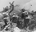Polish troops 2nd Polish Corps throwing grenades at the enemy during fighting around Monte Cassino.jpg