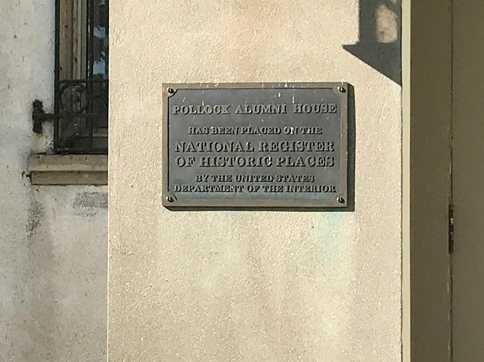 Polloc House Sign
