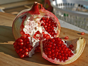 Pomegranate fruit.
