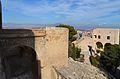 Pont sobre el fossat i torre de santa Caterina, castell de santa Bàrbara, Alacant.JPG