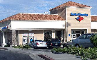 Branch (banking) - Current Bank of America branch in Porter Ranch, Los Angeles, California