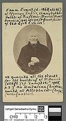 Esau Evans of Ffynnon Inglis, Llanybyther