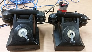 Postmaster-General's Department -  Post Master General - Pubilc Telephone with battery for power, year 1950