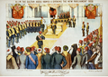 A postcard depicting the opening of the new Parliament in 1908.