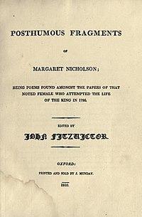Posthumous Fragments of Margaret Nicholson cover