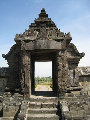 Paduraksa - A paduraksa gate of Plaosan compound, 9th century.