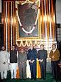 Pranab Mukherjee, the Chairman of the BJP Parliamentary Party, Shri L.K. Advani, the Minister of State for Finance and Parliamentary Affairs, Shri Pawan Kumar Bansal.jpg