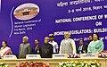 Pranab Mukherjee, the Vice President, Shri M. Hamid Ansari, the Speaker, Lok Sabha, Smt. Sumitra Mahajan and the Prime Minister, Shri Narendra Modi at the inaugural ceremony of the National Conference of Women Legislators (1).jpg