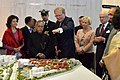Pranab Mukherjee being briefed about the Expansion project of Karolinska Institute and its new hospital, at the Karolinska Institute, in Stockholm, Sweden. The King Carl XVI Gustf and other dignitaries are also seen.jpg