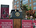 President Bush dedicates the Victims of Communism Memorial.jpg
