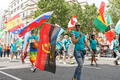 Pride in London 2016 - A flag bearer with the Angolan flag.png
