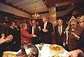 Prime Minister Ehud Barak of Israel, Secretary of State Madeleine Albright, President Bill Clinton, interpreter Gamal Helal, and Yasser Arafat of the Palestinian Authority.jpg