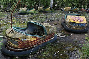 Pripyat - Chernobyl Amusement Park Karts.jpg