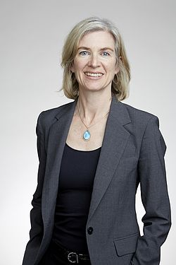 Jennifer Doudna at the Royal Society admissions day in London, 2016