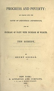 <i>Progress and Poverty</i> 1879 book by Henry George