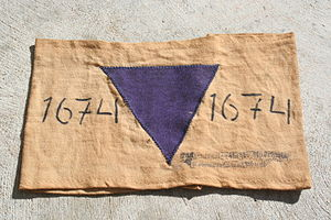 Nazi concentration camp badge - Image: Purple Triangle