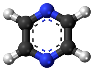 Pyrazine - Image: Pyrazine 3D balls 2