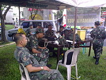 Reservists From The HHC 1502IBDERR And 20IBRR Manned Tactical Command Post At Holy Cross Memorial Park In San Bartolome Novaliches