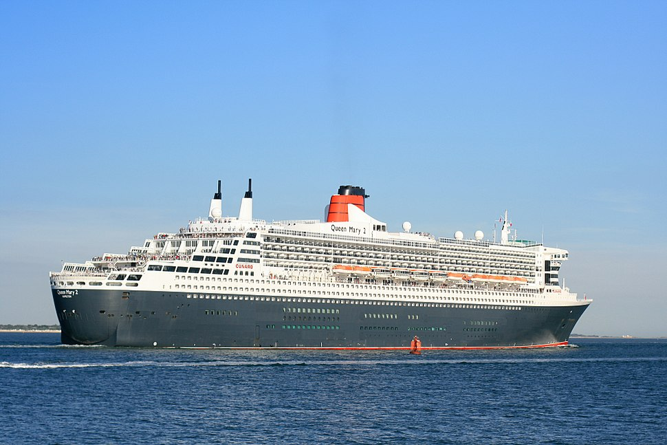 Queen Mary 2 outbound from Southampton 2 Sept 2013