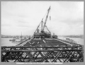Queensland State Archives 3596 Main bridge erection stage 2 view along deck Brisbane 5 October 1937.png