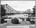 Queensland State Archives 4040 The bridge from All Hallows school grounds Brisbane 22 April 1940.png
