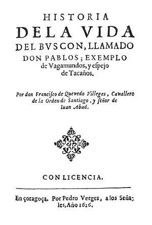 El Buscón - Original 1626 title page of El Buscón.