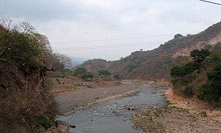 Paz River river in southern Guatemala