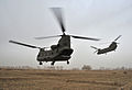 RAF Chinook Helicopters Leave a Landing in Zone in Afghanistan MOD 45153559.jpg