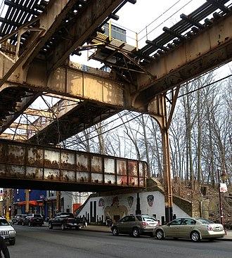 Brooklyn Manor (LIRR station) - Former Brooklyn Manor Station site beneath the BMT Jamaica Line
