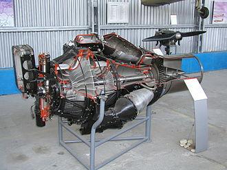 Klimov RD-500 - Cutaway of RD-500 turbojet engine