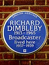RICHARD DIMBLEBY 1913-1965 Broadcaster lived here 1937-1939.jpg