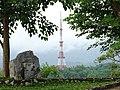 Radio Tower through Trees - From Victory Monument on Hill D1 - Dien Bien Phu - Vietnam (48168813797).jpg