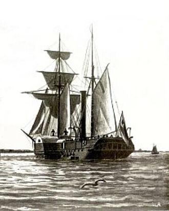 Battle of Heligoland (1849) - The German Corvette SMS Hamburg