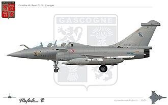 Strategic Air Forces Command - Image: Rafale B Gascogne