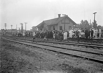 South Whitley, Indiana - Railroad depot in South Whitley, 1910s