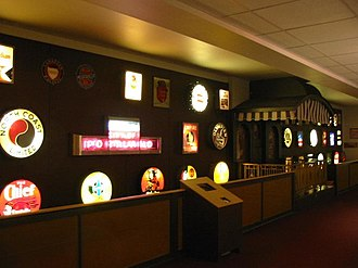 National Railroad Museum - The Bauer Drumhead Collection. These drumheads were saved from scrapped locomotives and other railroading equipment.