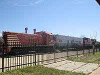 Railroad exhibit at Depot Square in Wichita Falls, TX IMG 6975