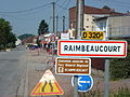 Raimbeaucourt (Nord, Fr) city limit sign.JPG